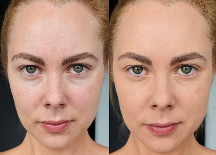 Фото до и после: эффект от применения тонального флюида