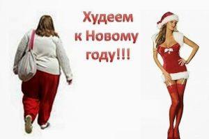 худеем к новому году за месяц